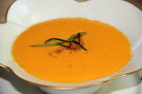 Gazpacho de zanahorias con curry
