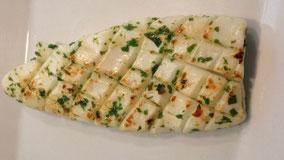 Calamar marinado a la plancha