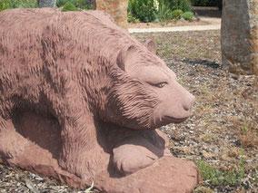 Tierfiguren Bär Sandstein