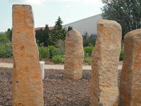 Basaltsäulen für die Gartengestaltung