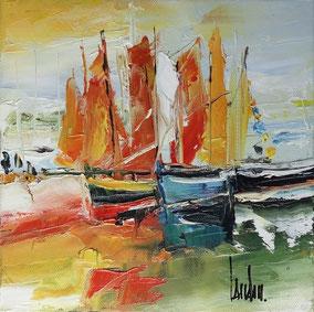 """""""Les petits sloops"""" - 20x20"""