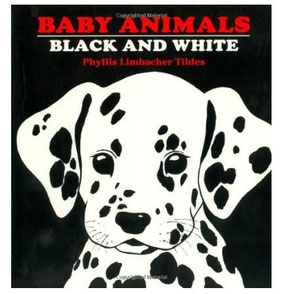 board book to entertain baby on flight - Baby Animals Black and White