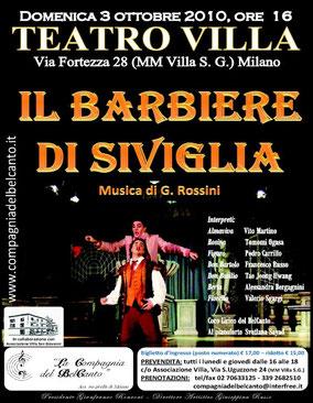IL BARBIERE DI SIVIGLIA di G. Rossini – Milano, 03/10/2010