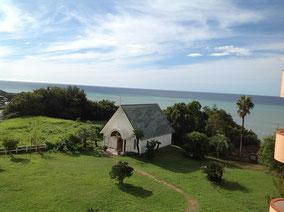 ホテルから眺めた太平洋