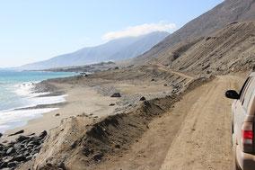 Ruta 1 in Richtung Antofagasta:  da war die Strasse noch in Ordnung...