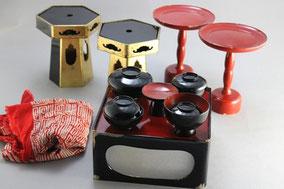 仏膳、仏椀、高月の塗り修理