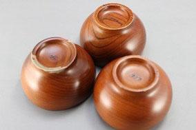 拭き漆修理の木製汁椀