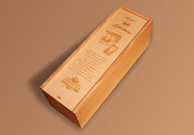 Lasergravur Weinkiste Holz