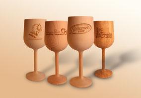 Weinglas Holz