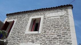 Imitation pierre d'une maison voisine sur la commune de Clermont l'Hérault