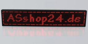 LED Laufschrift rot
