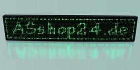 LED Laufschrift grün