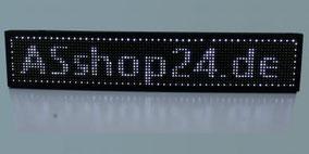 LED Laufschrift weiß