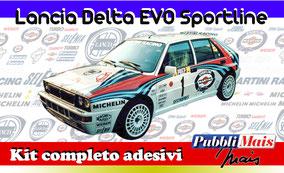 lancia delta evo evoluzione martini sportline 1992 kit adesivi