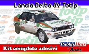 lancia delta 8v totip kit adesivi