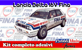 lancia delta 16v fina 1990 1991 kit adesivi