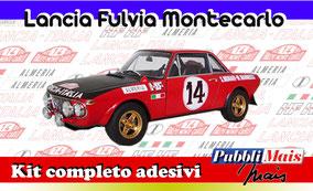 lancia fulvia coupe montecarlo 1972 kit adesivi