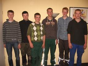 v.l.: Hagen Marquardt, Jan Glinsmann, Tim Köhler, Mattihas Rüpke,        Sönke Lodemann und Christian Quell