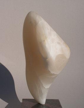 détermine - albâtre blanc translucide 2013 45cm