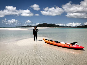 Island Camping,Whitehaven Beach,Whitsunday Islands, Queensland,Australien,Australia,Scamper,Water Taxi,Salty Dog Kayak,Hill Inlet