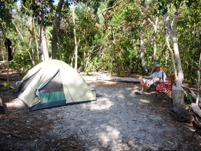 Island Camping,Whitehaven Beach,Whitsunday Islands, Queensland,Australien,Australia,Scamper,Water Taxi,Salty Dog Kayak