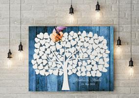 3D Holz Effekt Gästebuch wedding tree Hochzeitsbaum  zur Hochzeit, Geburt, Taufe, Goldene Hochzeit.