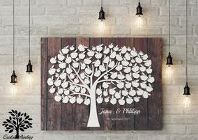 3D Holzoptik wedding tree Hochzeitsbaum zur Hochzeit Taufe Geburtstag