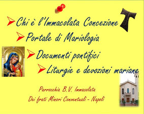 CLICCA PER CONOSCERE l'IMMACOLATA CONCEZIONE