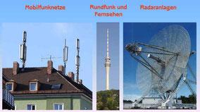 Gängige Erzeuger künstlicher elektro-magnetischer Strahlung.                                           Mehr dazu aufs Bild klicken!