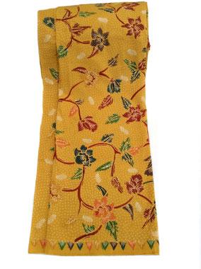Orange Floral Hand dyed batik