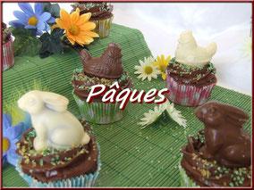 cupcake, gâteau, biscuit, cake design, pâques, pâte à sucre