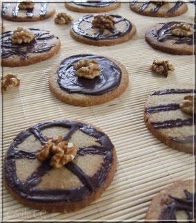 biscuit sables aux noix chocolat
