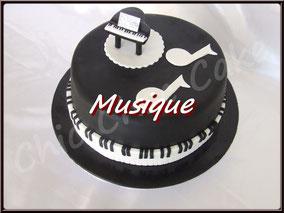 gâteau, cupcake, biscuit, musique, pâte à sucre, cake design