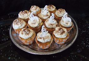 cupcakes à la poire, cake design, pâtisserie, recette cupcake, halloween, boutique en ligne, fantôme