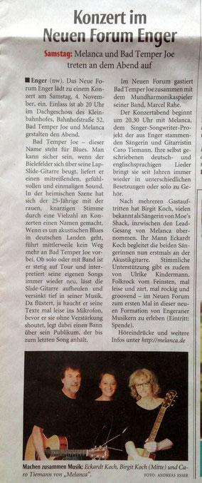 Neue Westfälische 31.10.2017