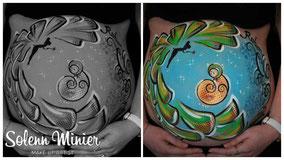 femme enceinte ventre belly painting solenn minier fée clochette