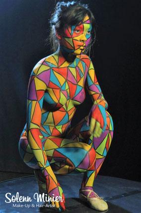 body painting maquillage corporelle arlequin rennes bretagne solenn minier