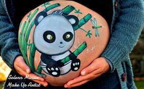 femme enceinte ventre belly painting solenn minier panda