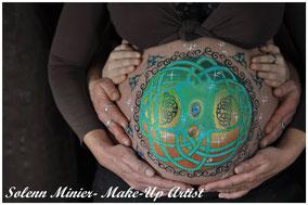 femme enceinte ventre belly painting solenn minier