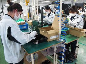 オリテック生産部門のMT梱包
