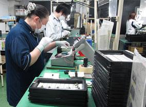 オリテック生産部門のMT検査