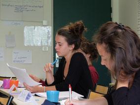 Image d'une cordialiste participant à la session de formation à Compiègne.