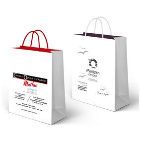 poche sac kraft graphiste imprimeur biscarrosse biscaflyer