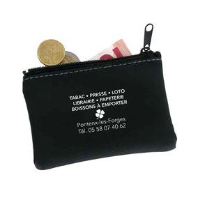 porte monnaie goodies personnalisables graphiste imprimeur biscaflyer biscarrosse