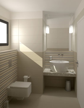Carrelage ma onnerie d corative 2cgp carrelage construction for Salle de bain maconnee