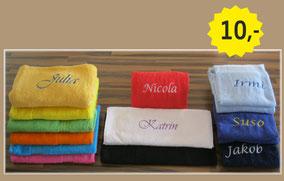 Handtuch bestickt