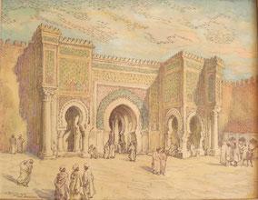 Bab Mansour Meknes, Maroc 1962 André Aaron Bilis