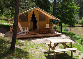 camping glamping dordogne tente