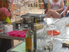 Atelier de fabrication de cosmétiques naturelles