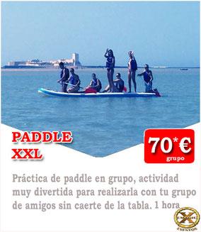 alquiler de paddle gigante en Conil